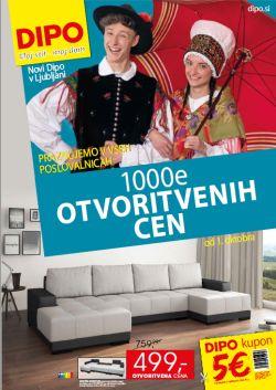 Dipo katalog 1000 otvoritvenih cen Ljubljana