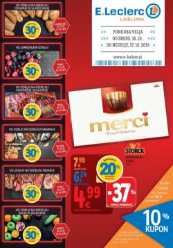 E Leclerc katalog Ljubljana do 27. 10.