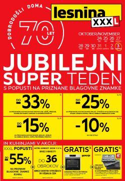 Lesnina katalog Jubilejni super teden do 3. 11.