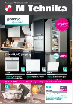 Mercator katalog tehnika Gorenje do 31. 1.