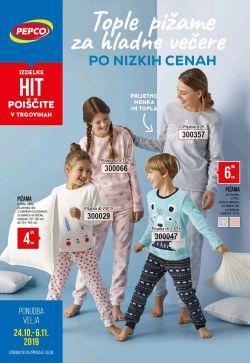 Pepco katalog Tople pižame za hladne večere