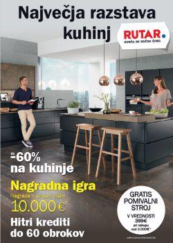 Rutar katalog Največja razstava kuhinj do 30. 10.