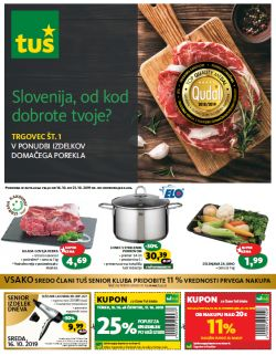 Tuš katalog trgovine in franšize do 21. 10.