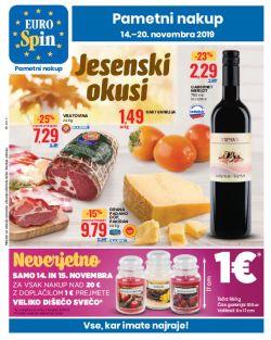 Eurospin katalog Jesenski okusi do 20. 11.