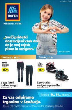 Hofer katalog od 15. 11.