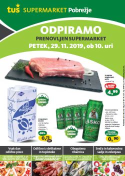 Tuš katalog Otvoritev supermarket Maribor Pobrežje