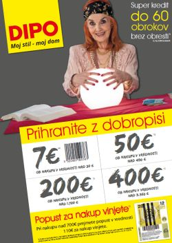 Dipo katalog Prihranite z dobropisi do 14. 12.