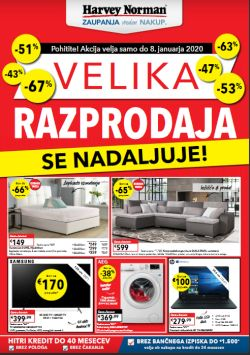 Harvey Norman katalog Velika razprodaja do 8. 1.