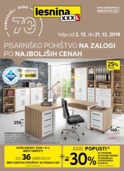 Lesnina katalog Pisarniško pohištvo do 21. 12.