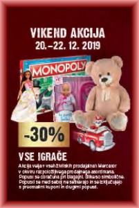 Mercator vikend akcija do 22. 12.