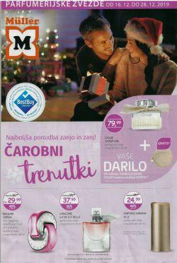Muller katalog Parfumerija do 28. 12.