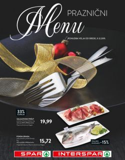 Spar in Interspar katalog Praznični menu