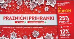 Spar in Interspar katalog Praznični kuponi do 6. 1.