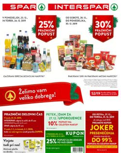 Spar in Interspar katalog do 31. 12.