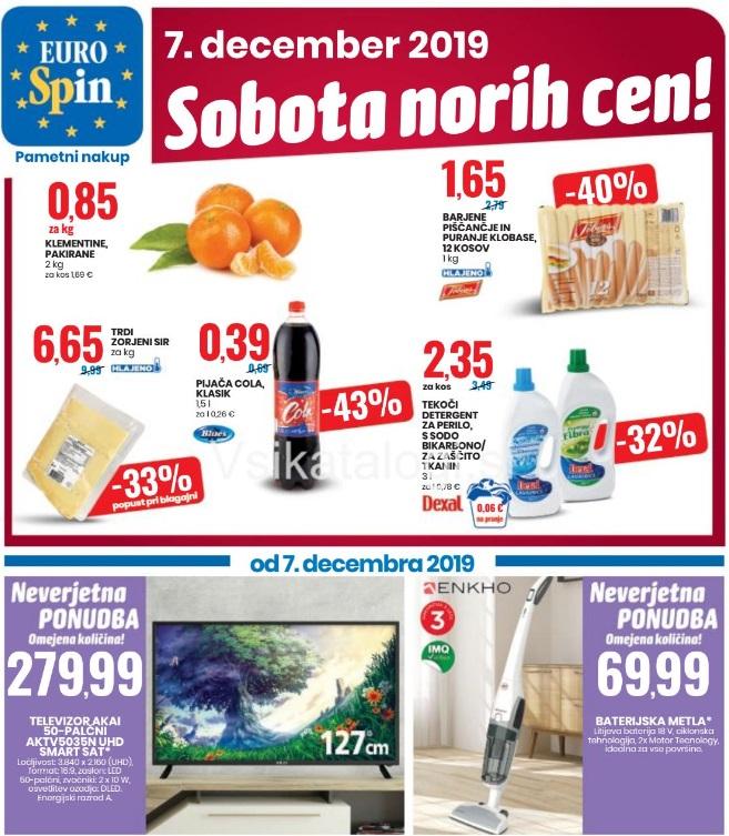 Eurospin sobota norih cen 7.12.