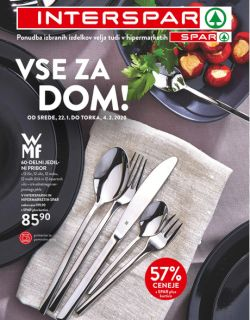 Spar in Interspar katalog Vse za dom do 4. 2.