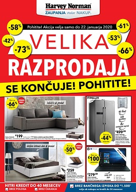 Harvey Norman katalog Velika razprodaja do 22.1.