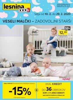 Lesnina katalog Veseli malčki – zadovoljni starši
