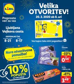 Lidl katalog Velika otvoritev Ljubljana Vojkova