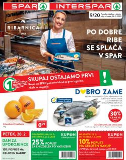 Spar in Interspar katalog do 3. 3.