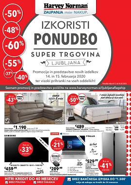 Harvey Norman katalog Ljubljana do 26.2.
