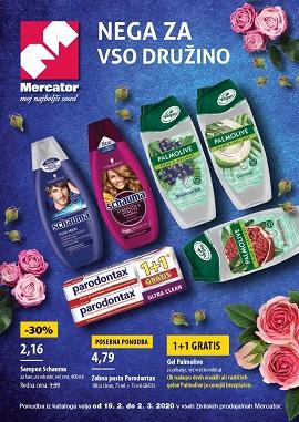 Mercator katalog Nega za vso družino do 2.3.