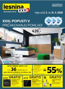 Lesnina katalog XXL popusti do 21. 3.