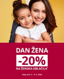 Takko akcija Dan žena  – 20 % do 8. 3.