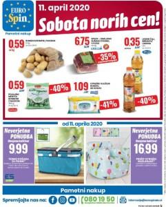 Eurospin sobota norih cen 11. 4.