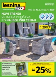 Lesnina katalog Novi trendi vrtnega pohištva