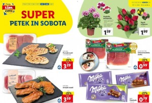 Lidl super petek in sobota do 18. 4.