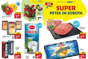 Lidl super petek in sobota do 25. 4.