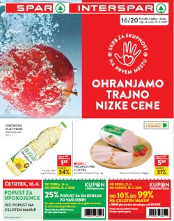 Spar in Interspar katalog do 28. 4.