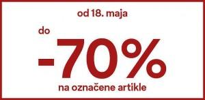 C & A akcija do – 70 % do 31. 5.