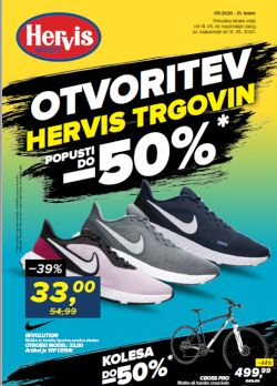 Hervis katalog Otvoritev trgovin popusti do – 50 %