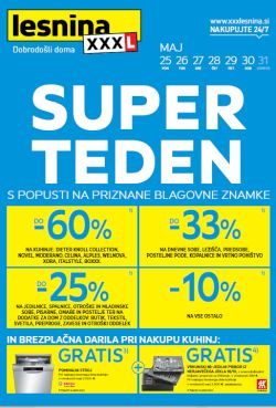Lesnina katalog Super teden do 31. 5.
