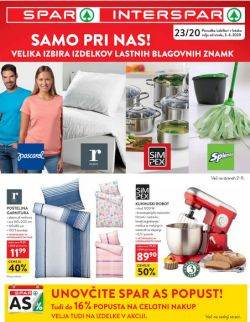 Spar in Interspar katalog do 16. 6.