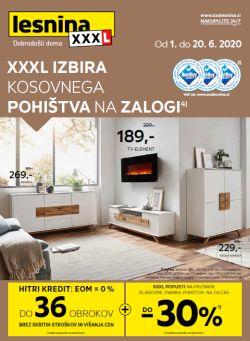 Lesnina katalog XXL izbira kosovnega pohištva