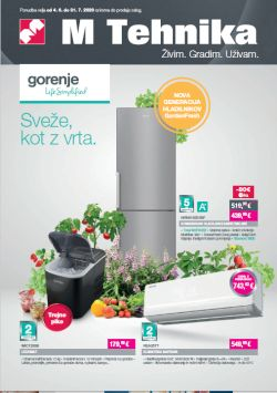Mercator katalog tehnika Gorenje do 31. 7.