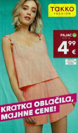 Takko katalog Kratka oblačila, majhne cene od 11. 6.
