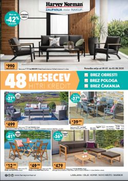 Harvey Norman katalog Vrtno pohištvo do 5. 8.
