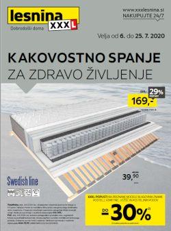 Lesnina katalog Kakovostno spanje do 25. 7.