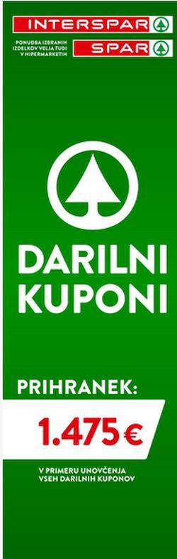 Spar in Interspar katalog Darilni kuponi do 21. 7.