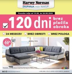 Harvey Norman katalog 120 dni pohištvo
