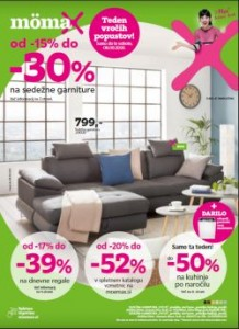 Momax katalog Do – 30 % na sedežna garniture