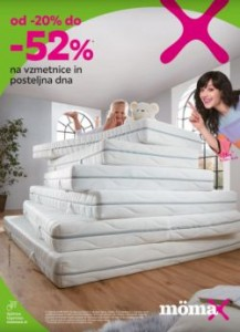 Momax katalog Do – 52 % na vzmetnice in posteljna dna