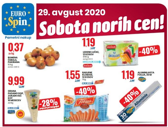 Eurospin sobota norih cen 29.8.
