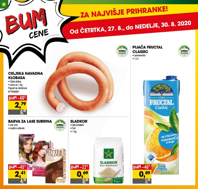 Tuš vikend akcija Bum cene do 30.8.