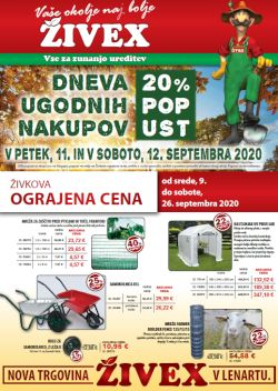 Živex katalog september 2020
