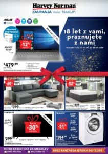 Harvey Norman katalog 18 let z vami